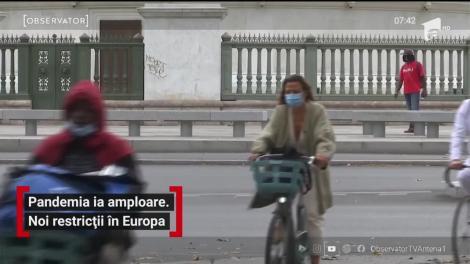Pandemia ia amploare. Noi restricții în Europa