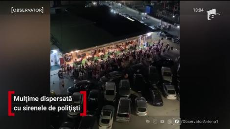 Mulțime dispersată cu sirenele de polițiști, de la un concert susținut de Vali Vijelie