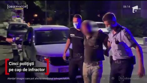 Cinci polițiști pe cap de infractor
