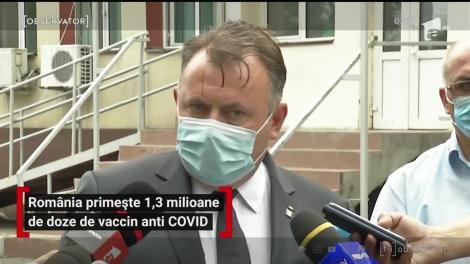 România primește 1,3 milioane de doze de vaccin anti Covid