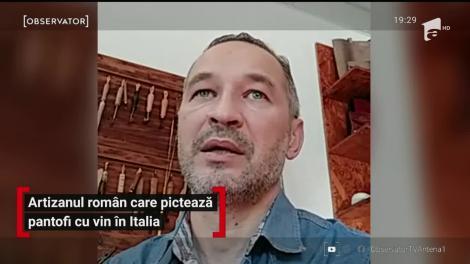 Artizanul român care pictează pantofi cu vin în Italia