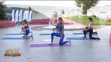 Exerciții pentru coapse și fesieri cu Diana Stejereanu