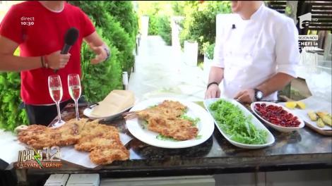 Chef Ghimpu prepară cel mai gustos șnițel vienez, în direct, la Neatza cu Răzvan și Dani