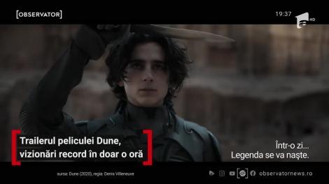 Trailerul filmului Dune, vizionări record în doar o oră