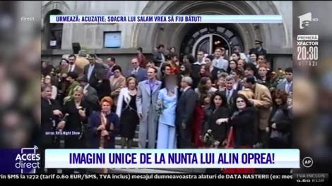 Imagini unice de la nunta lui Alin Oprea