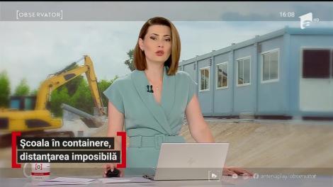 Școala în containere, distanțare imposibilă
