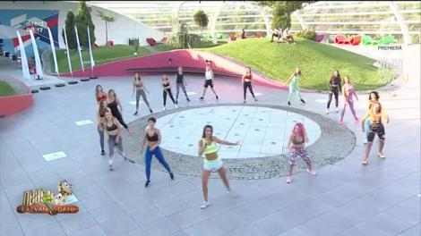 "Flashmob, la Neatza! Diana Stejereanu, super antrenament: ""Sus picioarele!"""