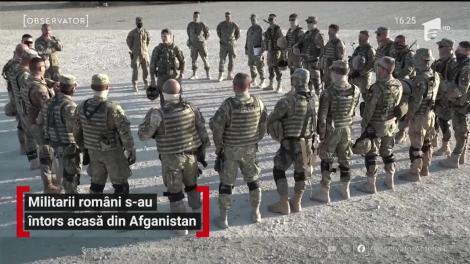 Militarii români s-au întors acasă din Afganistan