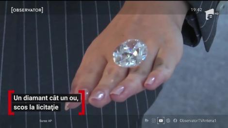Diamant cât un ou de găină, scos la licitaţie