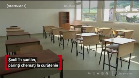 Școli în șantier, părinți chemați al curățenie