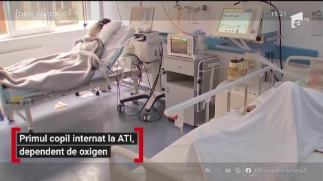 Primul copil internat la ATI, dependent de oxigen