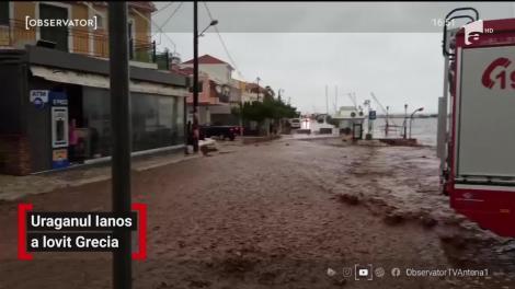 Ore critice pentru Grecia. Uraganul Ianos a lovit ţărmul