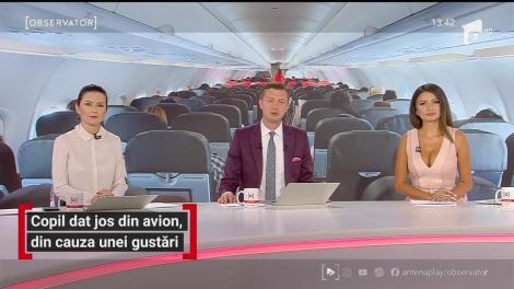 Copil dat jos din avion, din cauza unei gustări