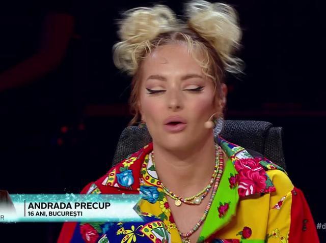 Andrada Precup a impresionat pe scena X Factor. Jurații i-au aplaudat talentul în picioare