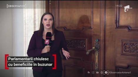 Parlamentarii români chiulesc cu beneficiile în buzunar