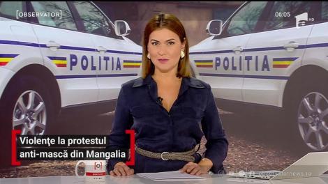 Violențe la protestul anti-mască din Mangalia
