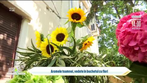 Aromele toamnei, vedete în buchetul cu flori