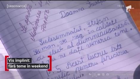 Şcoală din Piteşti fără teme pentru acasă în weekend