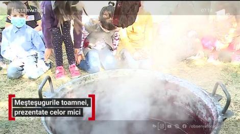 Meșteșugurile toamnei, prezentate copiilor din Mureș