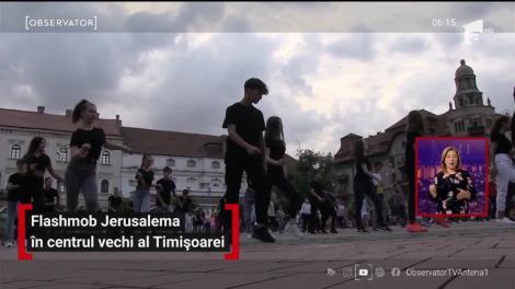Flashmob Jerusalema în centrul vechi al Timișoarei