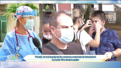 Părinții, tot mai îngrijorați de creșterea numărului de îmbolnăviri cu Covid-19 în rândul copiilor