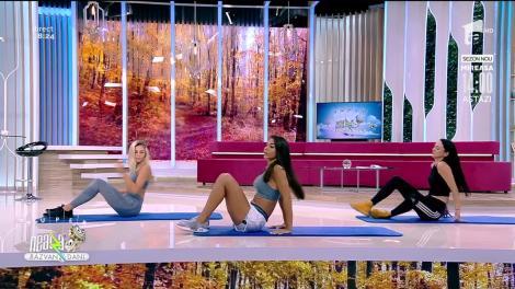 Antrenament pentru abdomen, cu Diana Stejereanu