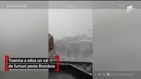Toamna a adus un val de furtuni în România