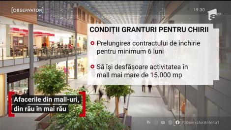 Afacerile din mall-uri, din rău în mai rău