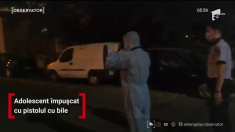 Incident şocant în Capitală. Un adolescent de 16 ani a fost împuşcat cu un pistol cu bile, de un individ de 19 ani