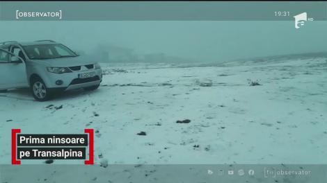 Prima ninsoare pe Transalpina