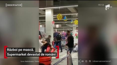 Supermarket din Lombardia, Italia, devastat de doi bătăuși români