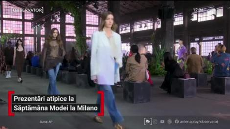 Prezentări atipice la Săptămâna Modei de la Milano