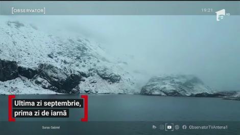 La munte cad primele ninsori. Drumarii pregătesc deja utilajele pentru deszăpezit
