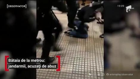 Bătălie la metrou: Jandarmii, acuzați de abuz