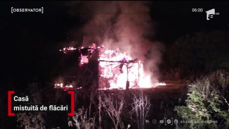 Incendiu puternic în comuna Bucov din judeţul Prahova