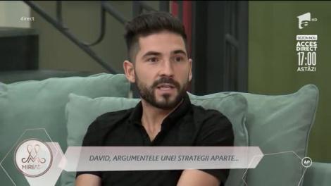 David, argumentele unei strategii: Claudia a venit doar ca să-și facă publicitate