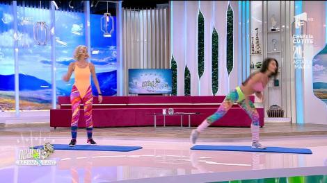 Antrenament intens cu toată greutate corpului, cu Diana Stejereanu
