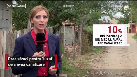 Doar 10% din populaţia din mediul rural are acces la canalizare. Situaţia asta nu e doar la ţară. Încă sunt oraşe în România în care toaleta e în continuare în curte