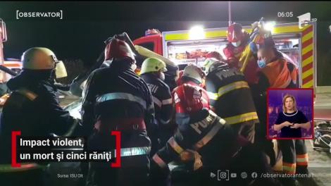 Impact violent în Olt, un mort și cinci răniți