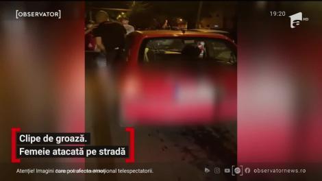 Clipe de groază. Femeie atacată pe stradă în Iași
