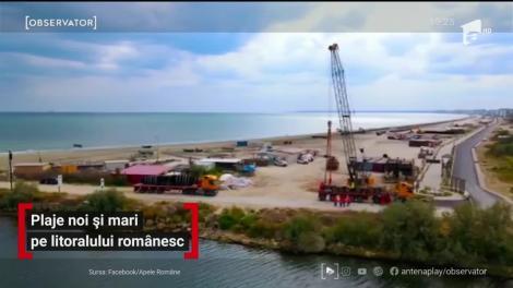 Plaje noi și mari pe litoralul românesc