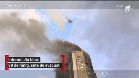Bloc de 33 de etaje din Coreea de Sud, mistuit de flăcări