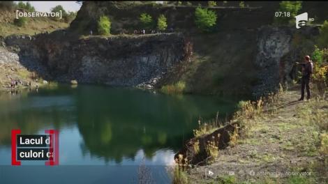 Lacul de Smarald, un nou punct de atracţie pe drumul care leagă Braşovul de Sighişoara
