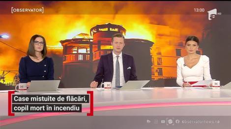 Case mistuite de flăcări, copil de 14 ani mort în incendiul din Capitală
