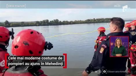 Cele mai moderne costume de pompieri au ajuns în Mehedinți