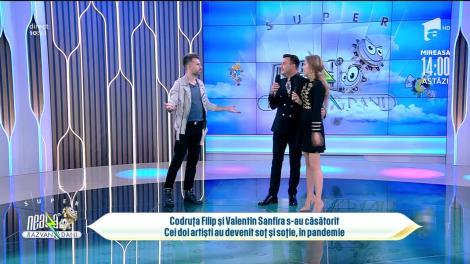 Codruța Filip și Valentin Sanfira s-au căsătorit! Cei doi artiști au devenit soț și soție, în pandemie