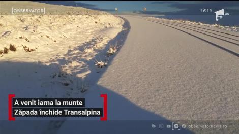 Zăpada închide Transalpina