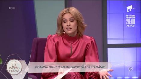 Doamna Mia este Mama Săptămânii: Nu mă așteptam, sunt surprinsă!