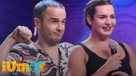 iUmor 2020: Adriana Geamănu i-a ridicat fără nicio problemă pe Șerban Copoț și Dan Badea