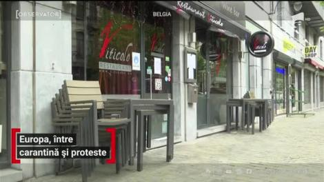 Europa, între carantină și proteste